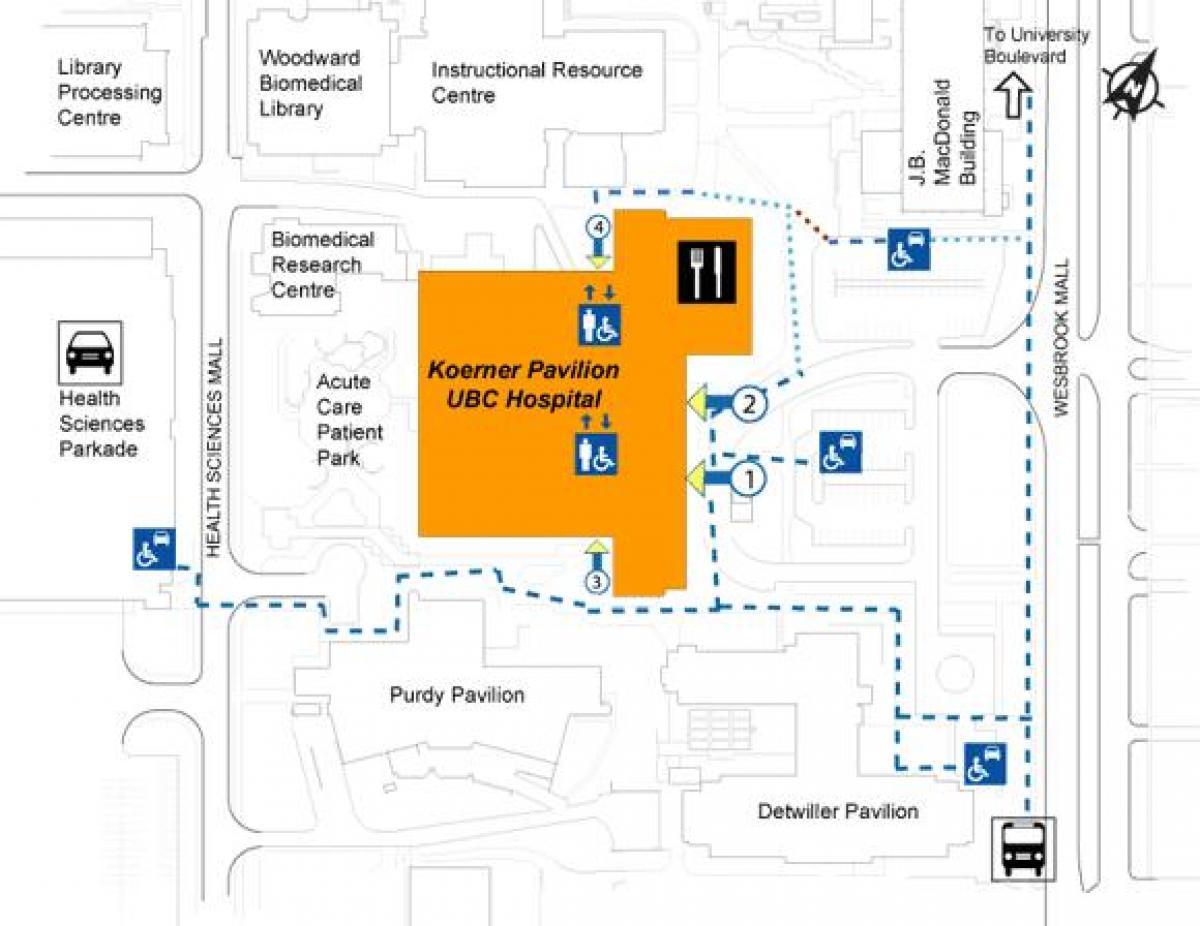 Ubc Hospital Map Ubc hospital map   Map of ubc hospital (British Columbia   Canada)